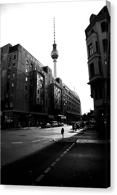 Berlin Bw Canvas Print by Falko Follert