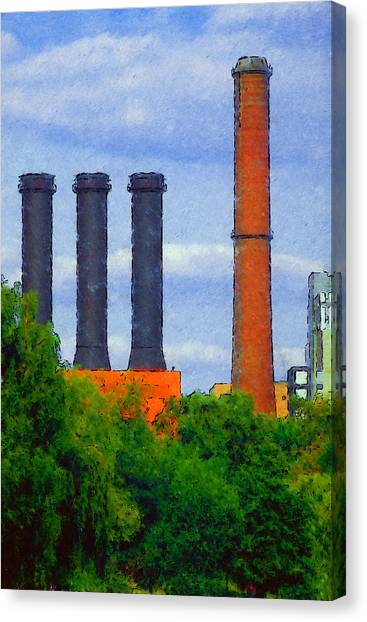 Berlin Plant -- Fabrik In Berlin Canvas Print by Arthur V Kuhrmeier