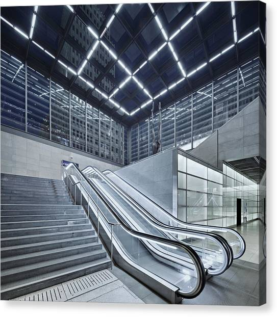 Berlin Potsdamer Platz With Escalator Canvas Print by Ricowde