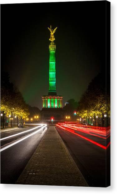 Robert Frank Canvas Print - Berlin Victory Column In Green Light by Robert Frank