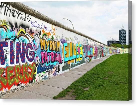 Berlin Wall Canvas Print - Berlin Wall by Ton Kinsbergen