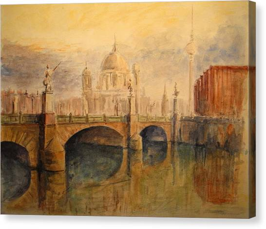 Cathedrals Canvas Print - Berliner Dom by Juan  Bosco