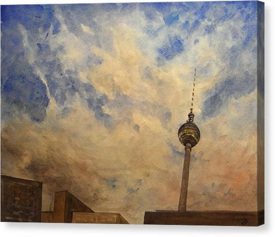 Berlin Canvas Print - Berliner Sky by Juan  Bosco