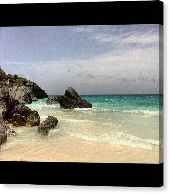 White Sand Canvas Print - Bermuda by Joe Schurr