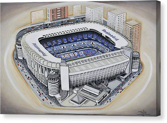 Real Madrid Canvas Print - Bernabeu - Real Madrid by D J Rogers
