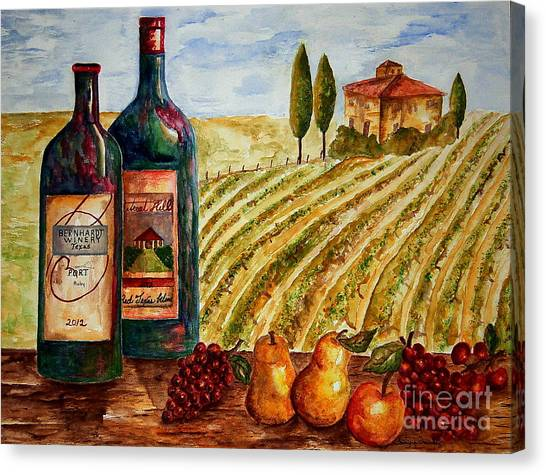 Bernhardt And Retreat Hill Winery Canvas Print