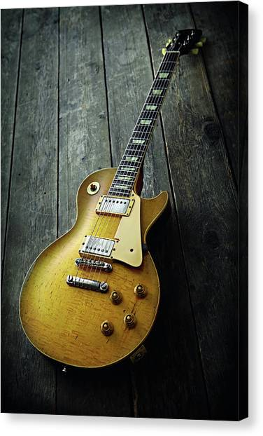 Whitesnake Canvas Print - Bernie Marsden Portrait And Guitar Shoot by Guitarist Magazine