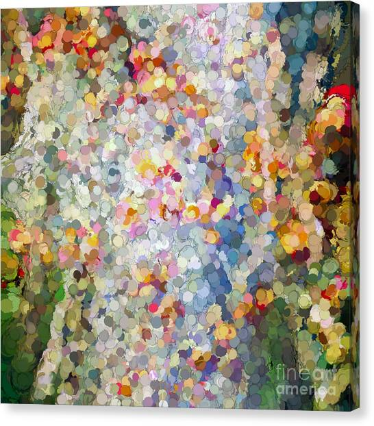 Berries Around The Tree - Abstract Art Canvas Print