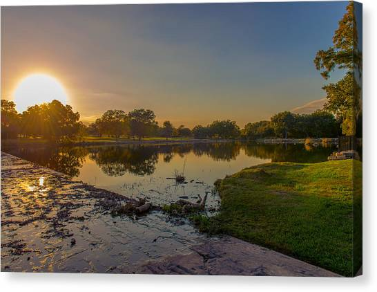 Berry Creek Sun Set Canvas Print