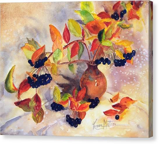 Berry Harvest Still Life Canvas Print