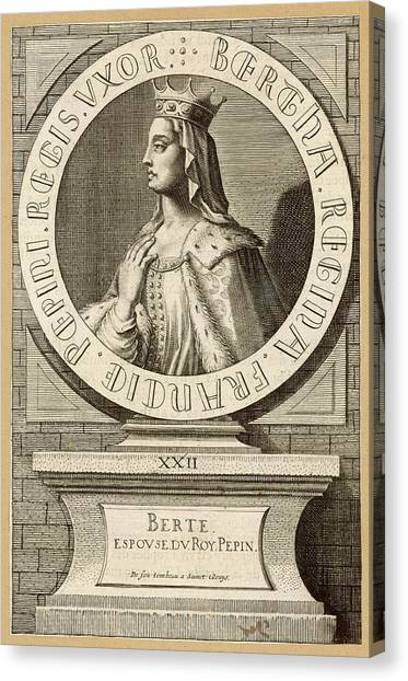 Berthe,  Queen Of Pepin Le Bref, King Canvas Print by Mary Evans Picture Library