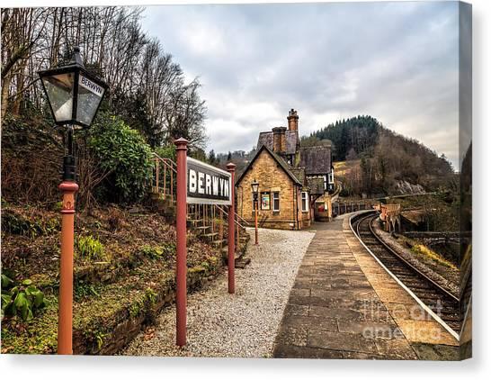 Blending Canvas Print - Berwyn Station by Adrian Evans