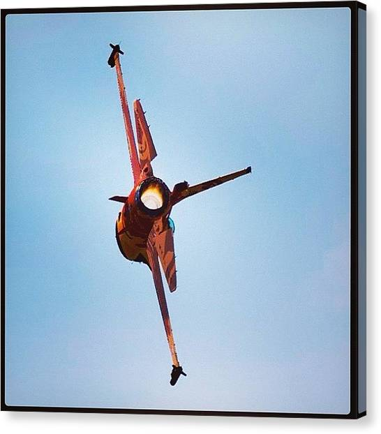 F16 Canvas Print - Besides Being A Gundam Geek, I'm Also by Julian Tirazona
