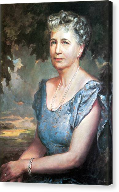 Harry Truman Canvas Print - Bess Truman, First Lady by Science Source
