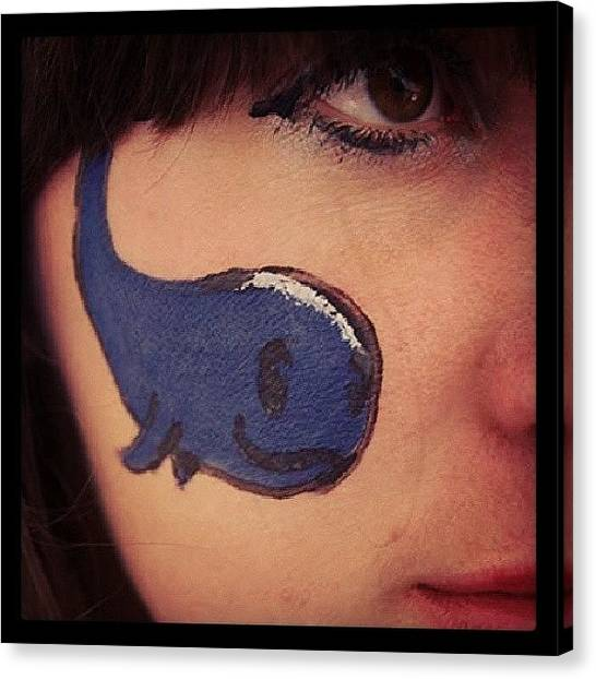 Whales Canvas Print - #best #facepaint Ever! #whale #blue by Siobhan Macrae