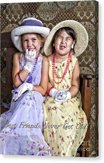 Best Friends Card Canvas Print