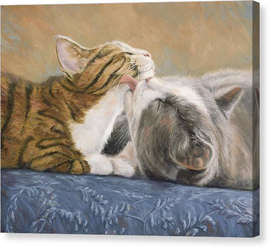 Indoors Canvas Print - Best Friends by Lucie Bilodeau