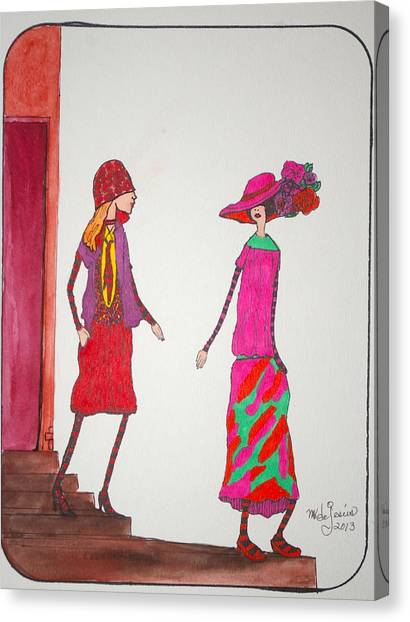 Best Friends Canvas Print by Mary Kay De Jesus