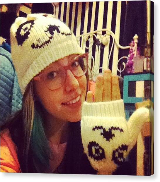 Panda Canvas Print - Best Hat Evar From @shaunaconnolly In by April Ferocious