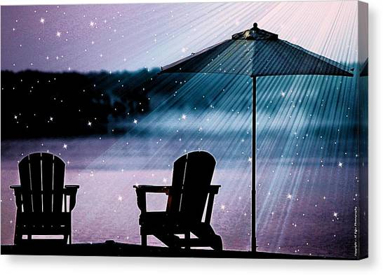 Best Seat In Muskoka Canvas Print
