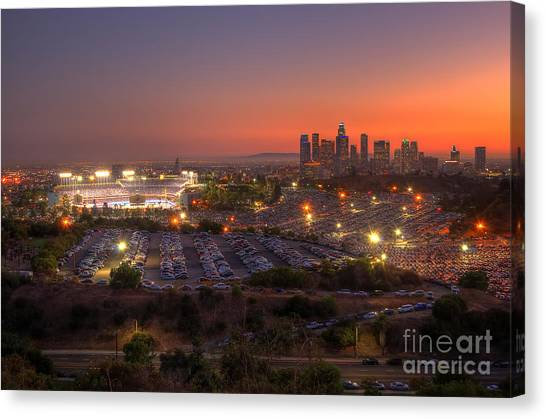 City Sunsets Canvas Print - Best Seat In The House by Eddie Yerkish