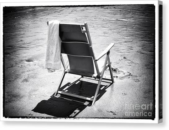 Folding Chairs Canvas Print - Best Seat by John Rizzuto