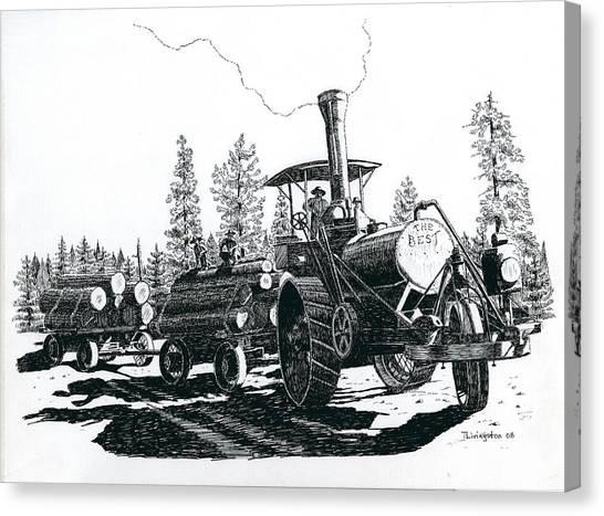 Best Steam Traction Engine Canvas Print