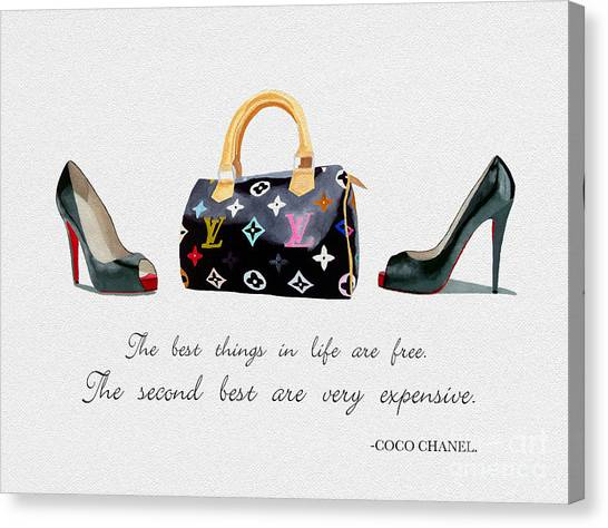 Chanel Canvas Print - Best Things In Life 4 by Rebecca Jenkins