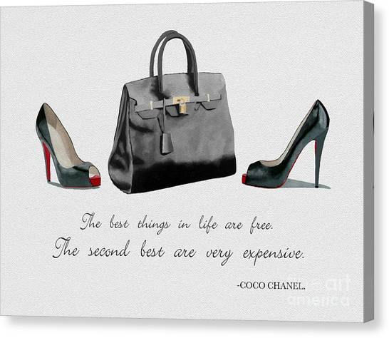Chanel Canvas Print - Best Things In Life by Rebecca Jenkins