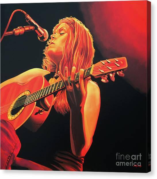 Classical Guitars Canvas Print - Beth Hart  by Paul Meijering