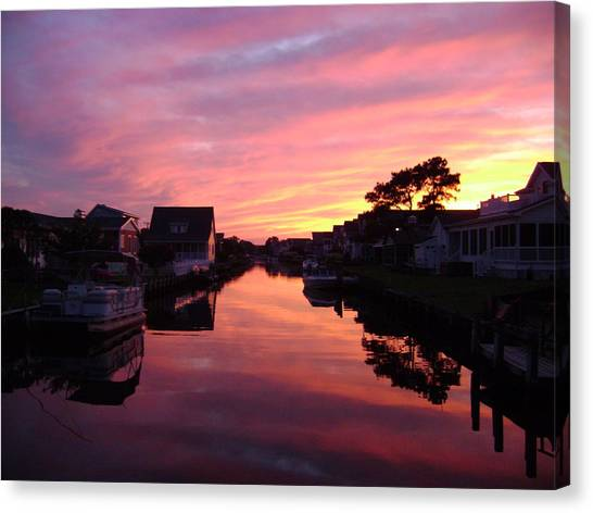 Bethany Beach Sunset Canvas Print