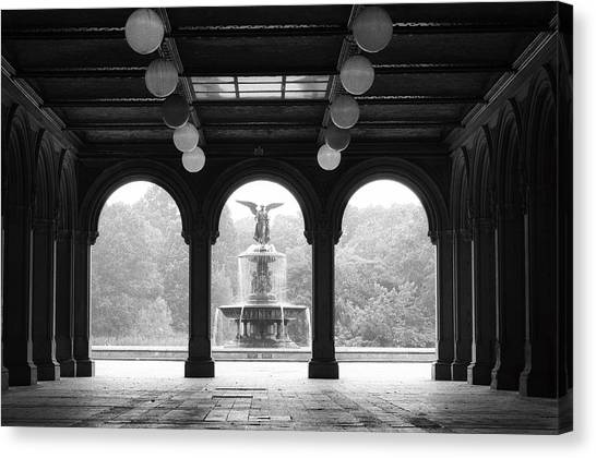 Bethesda Terrace  1990s Canvas Print