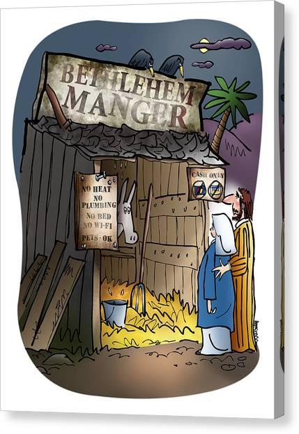 Bethlehem Manger Canvas Print