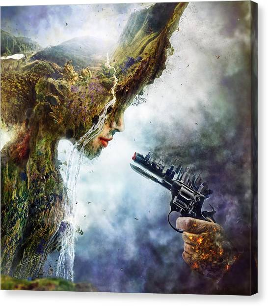Rivers Canvas Print - Betrayal by Mario Sanchez Nevado