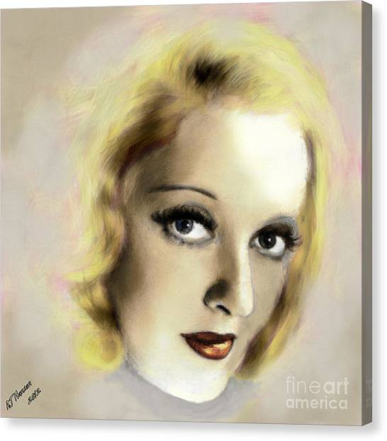 Van Goughs Ear Canvas Print - Bette Davis Eyes by Arne Hansen
