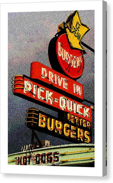 Better  Burgers Canvas Print by Gail Lawnicki