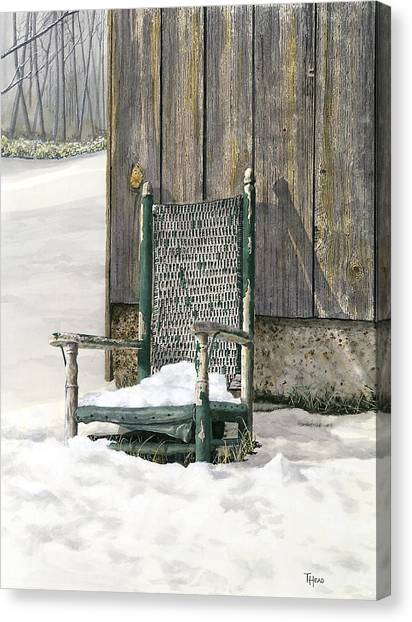 Better Days - Winter Canvas Print by Ted Head