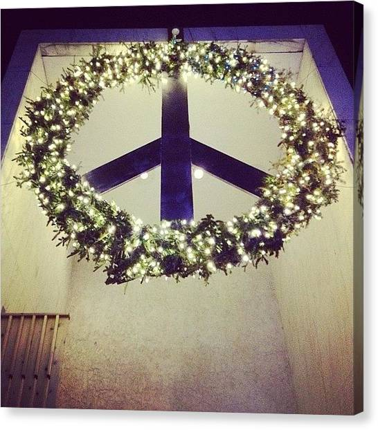 Wreath Canvas Print - Better From This Angle #piece #peace by Thomas Wheeler