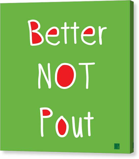 Wedding Gift Canvas Print - Better Not Pout - Square by Linda Woods