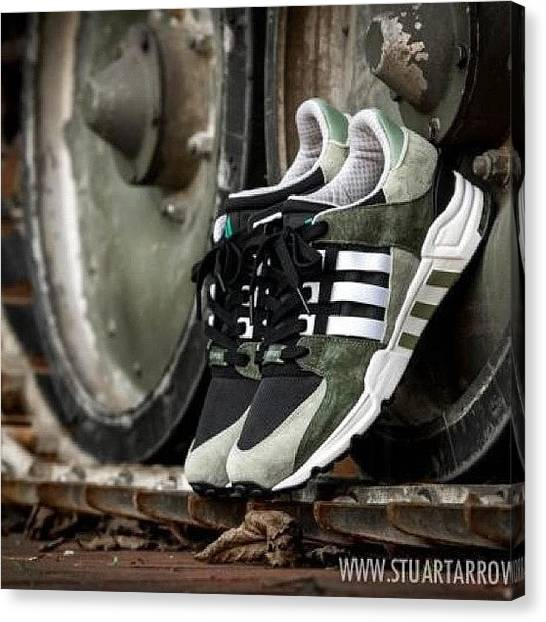 Equipment Canvas Print - Better Pic Of The #tentgreen #adidas by Stuart Arrowsmith