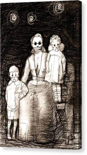 Dummies Canvas Print - Bettina And The Twins by H James Hoff