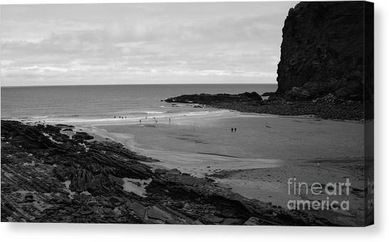 Between Rock And A Hard Place Canvas Print by Malcolm Suttle