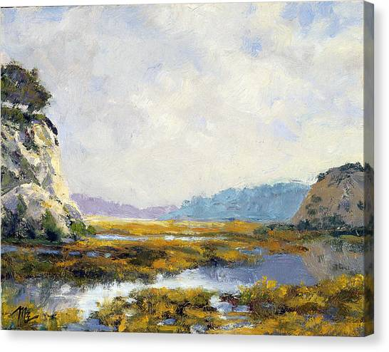Between The Cliffs Canvas Print