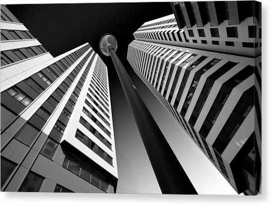 Post-modern Art Canvas Print - Between The White Towers by Peru Serra