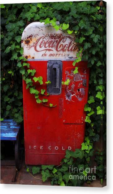 Austin Texas - Coca Cola Vending Machine - Luther Fine Art Canvas Print