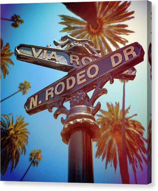 Beverly Hills California Canvas Print by Lpettet