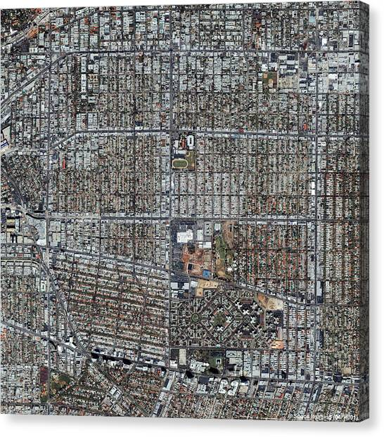 Beverly Hills Canvas Print - Beverly Hills by Geoeye/science Photo Library