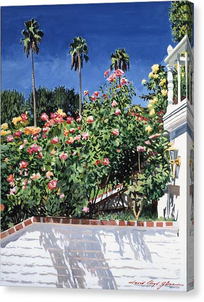Beverly Hills Canvas Print - Beverly Hills Roses by David Lloyd Glover