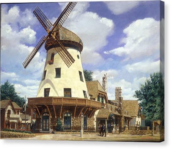Mills Canvas Print - Bevo Mill Springtime by Don  Langeneckert