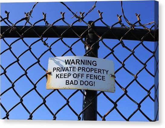 Beware Sign Canvas Print by John Ricard jr